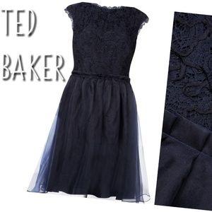 TED BAKER Jessika silk lace dress